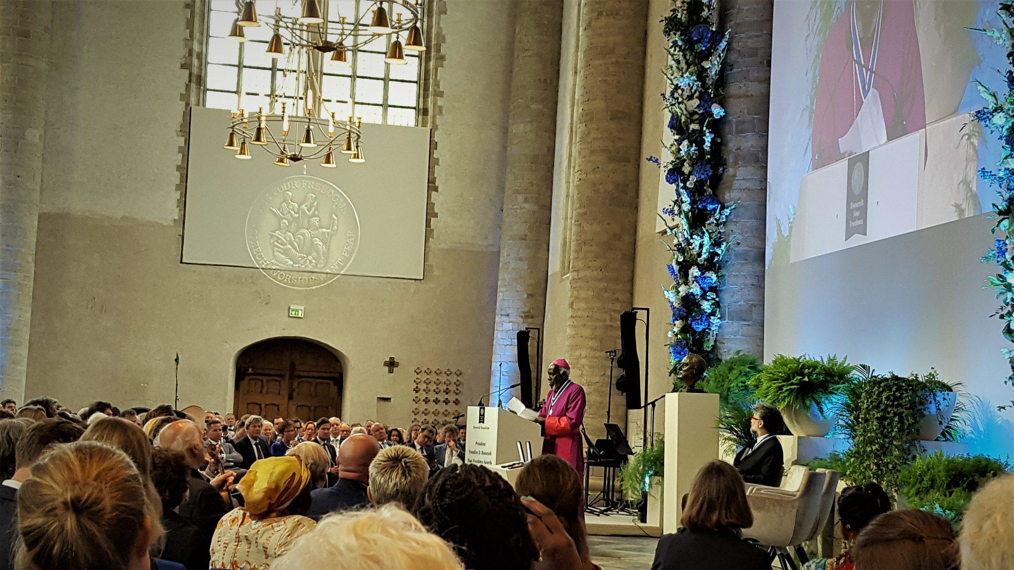 South Sudanese Bishop Paride Taban Receives Four Freedoms Award