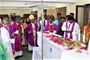 Srinagar, Kashmir, India: Burial of Fr Jim (Jaap) Borst mhm